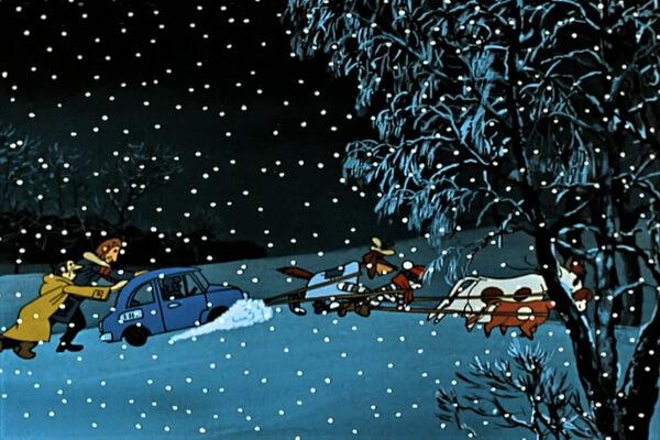 Лучшие советские новогодние мультфильмы - «Зима в Простоквашино» (1984)