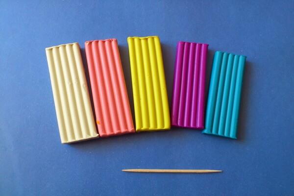 Макаруны из пластилина - инструменты и материалы для создания кукольной еды