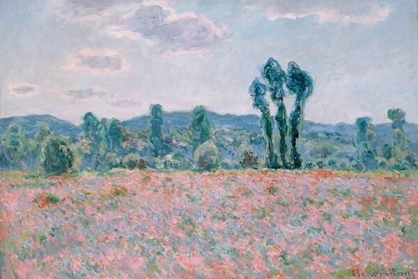 Маки в живописи - Клод Моне, «Поле маков» (1886 г.)
