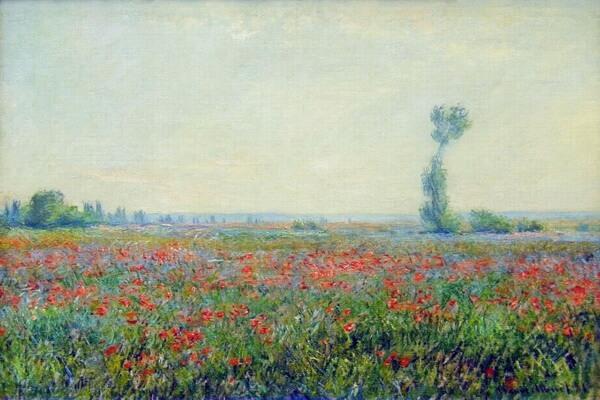 Маки в живописи известных художников - Клод Моне, Маковые поля в окрестности Живерни