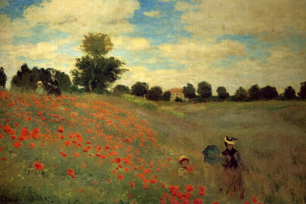 Маки в живописи - Клод Моне, «Маки» (1873 г.)