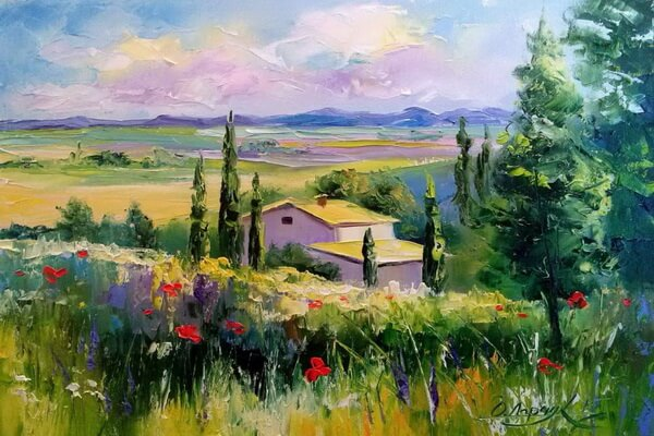 Маки на картинах Ольги Дарчук