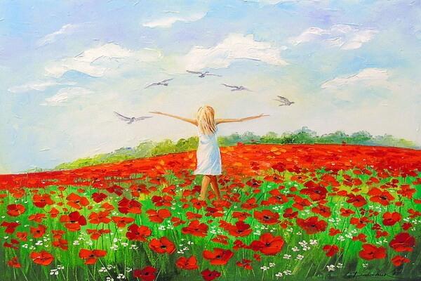 Маковые поля в живописи Ольги Дарчук