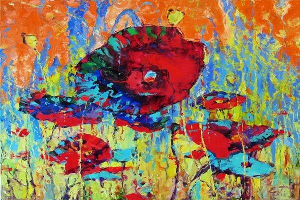 Маки в живописи - Евгений Гусельников, «Маковый полдень»