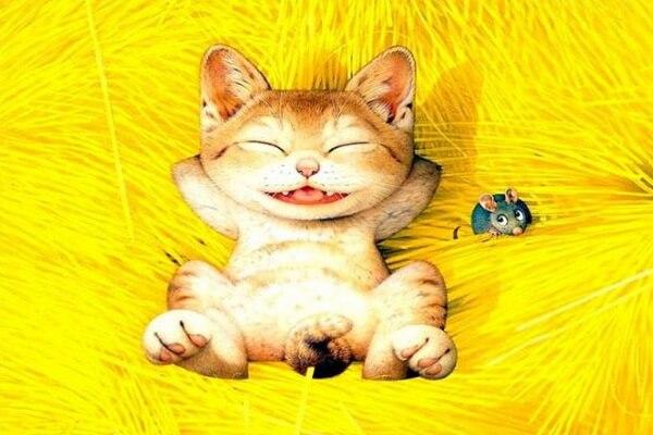Рисунки с котами Макото Мурамацу