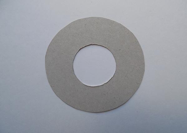 Выкройка подставки под кружку из фетра в виде спасательного круга