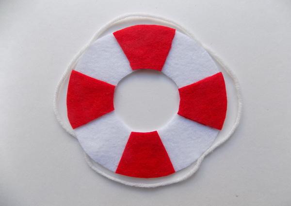 Подставка под чашку своими руками в виде спасательного круга