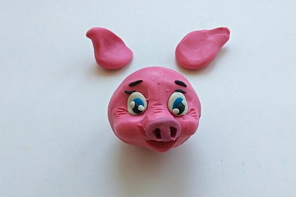 Как слепить свинку из пластилина пошагово - шаг 9