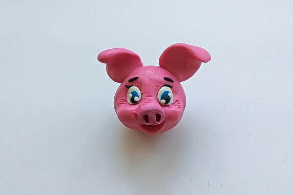 Как слепить свинку из пластилина пошагово - шаг 10