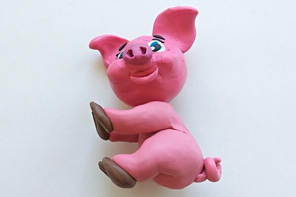 Как слепить свинку из пластилина пошагово - шаг 11