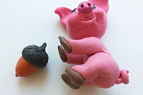 Как слепить свинку из пластилина пошагово - шаг 12