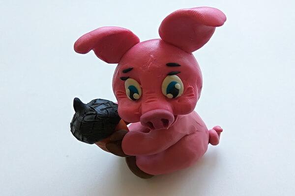 Как слепить свинку из пластилина пошагово - шаг 13