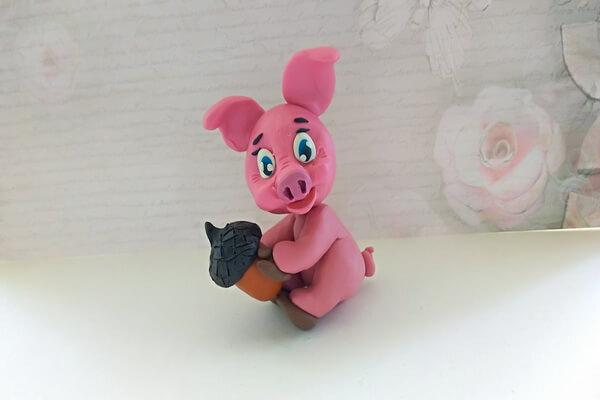 Пошаговый мастер-класс, как сделать свинку из пластилина