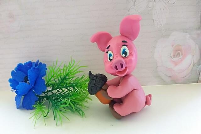 Как слепить свинку из пластилина - пошаговый мастер-класс по лепке