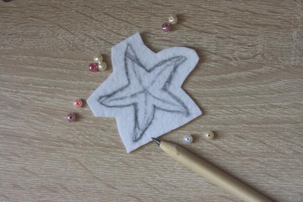 Морская звезда из бисера - пошаговый мастер-класс - шаг 1
