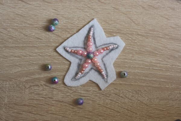 Морская звезда из бисера - пошаговый мастер-класс - шаг 2
