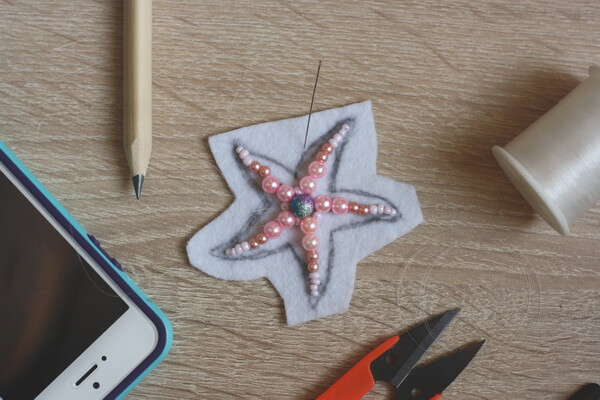Морская звезда из бисера - пошаговый мастер-класс - шаг 3