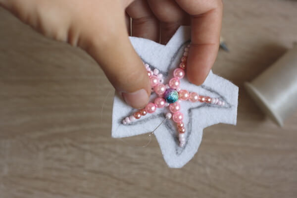 Морская звезда из бисера - пошаговый мастер-класс - шаг 3а