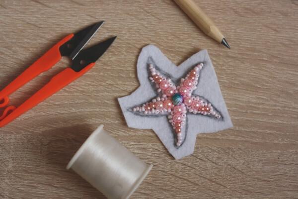 Морская звезда из бисера - пошаговый мастер-класс - шаг 3б