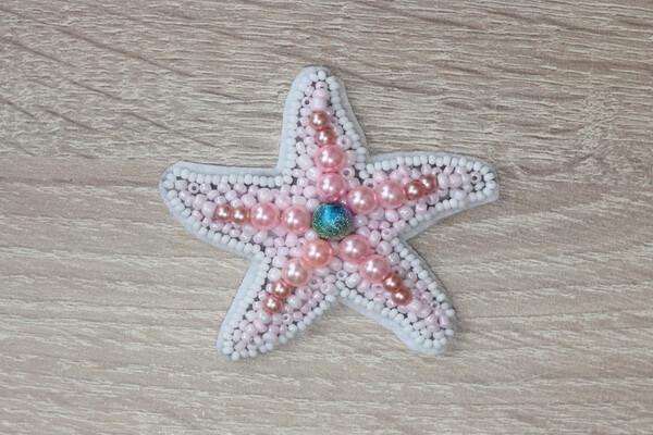 Морская звезда из бисера - пошаговый мастер-класс - шаг 4а