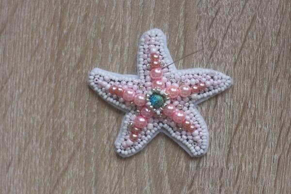 Морская звезда из бисера - пошаговый мастер-класс - шаг 5
