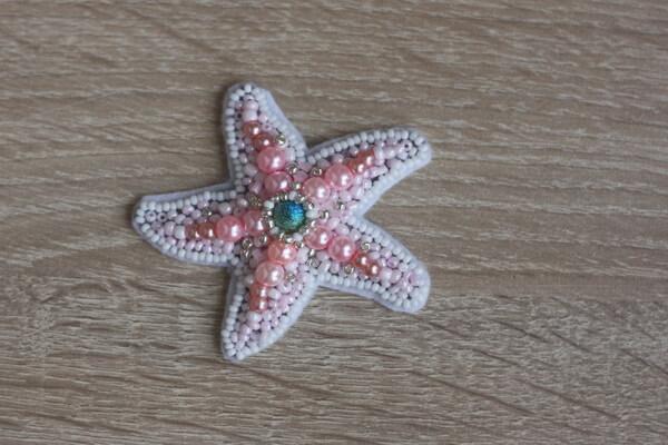 Морская звезда из бисера - пошаговый мастер-класс - шаг 5а