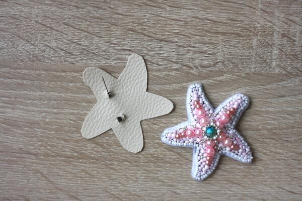 Морская звезда из бисера - пошаговый мастер-класс - шаг 6