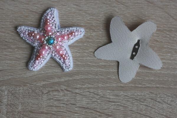 Морская звезда из бисера - пошаговый мастер-класс - шаг 6а