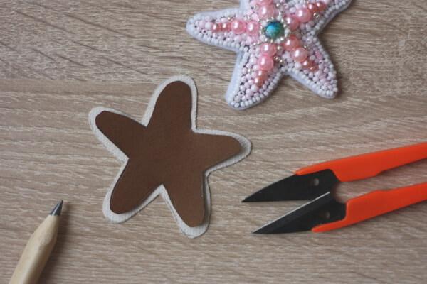 Морская звезда из бисера - пошаговый мастер-класс - шаг 7