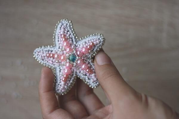 Как сделать из бисера морскую звезду - пошаговый мастер-класс для начинающих