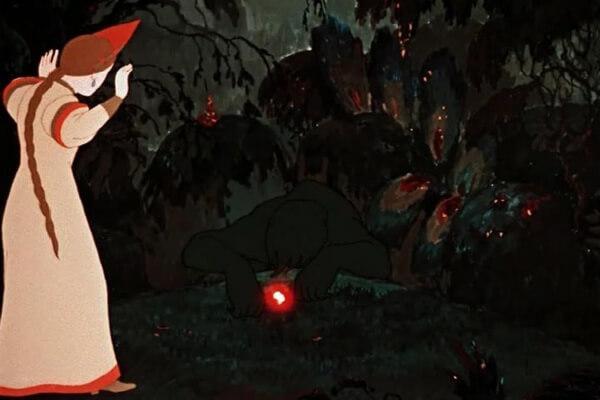 Кто озвучивал персонажей мультфильма «Аленький цветочек» (1952)