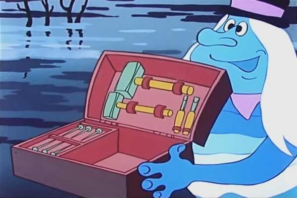 Герои мультфильма «Летучий корабль» - Водяной