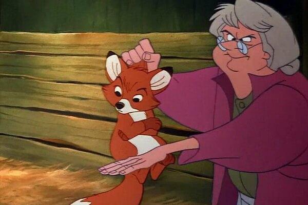 Мультфильм Уолта Диснея про лиса и пса - «Лис и пёс» (1981)
