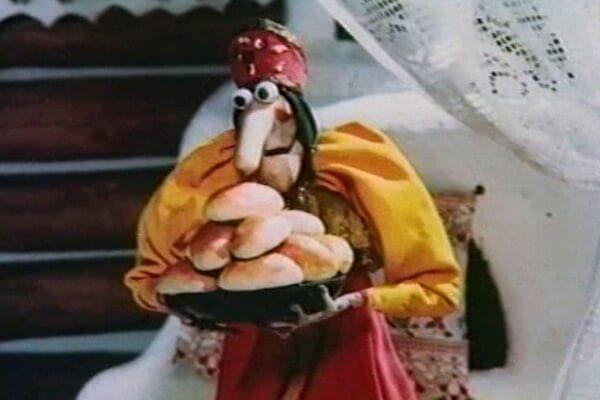 Баба-Яга из мультфильма Приключения домовёнка Кузи