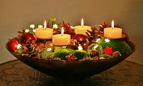 Идеи для новогоднего декора праздничного стола