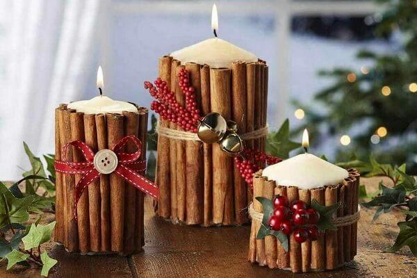 Новогодние композиции со свечами - интересные идеи с фото