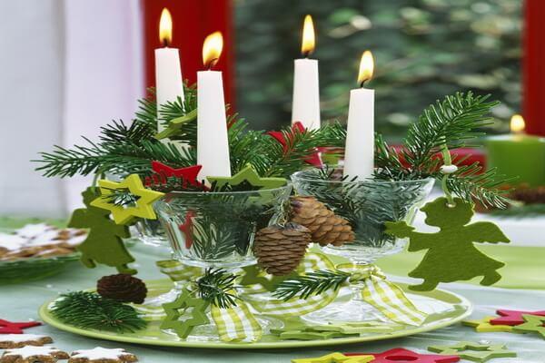 Интересные идеи, как сделать красивые новогодние композиции со свечами своими руками