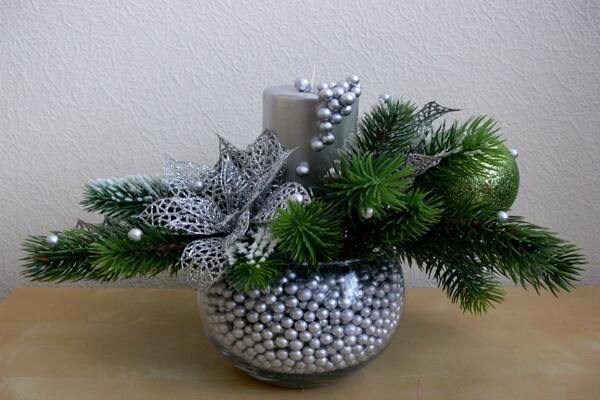 Идеи, как сделать красивые новогодние композиции со свечами своими руками