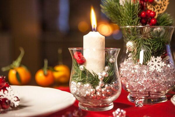 Новогодние композиции со свечами своими руками - красивые идеи и фото для вдохновения