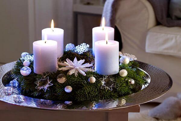 Новогодние композиции со свечами своими руками - оригинальные идеи и фото для вдохновения