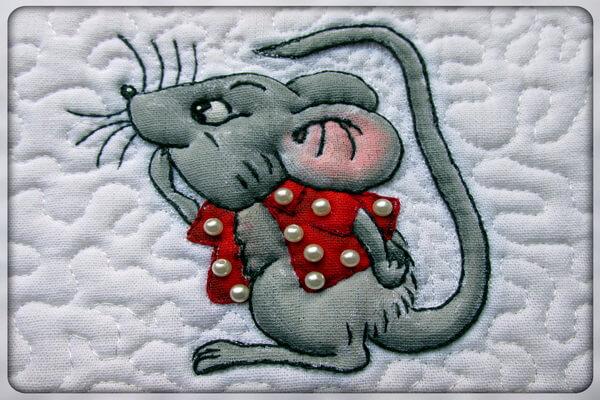 Новогодние открытки в технике скрапбукинг к году Крысы