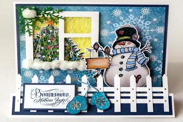 Красивые новогодние открытки скрапбукинг своими руками - идеи для творчества