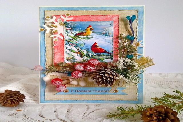 Новогодние открытки в технике скрапбукинг своими руками - интересные идеи с фото для вдохновения