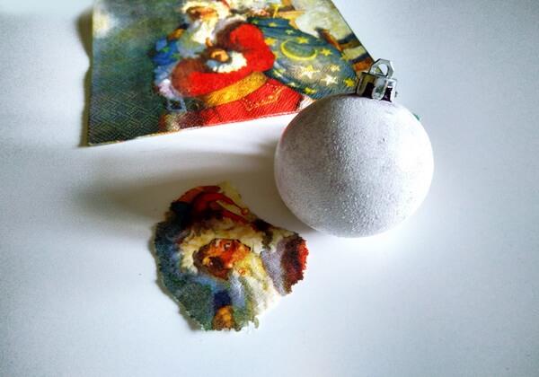 Декупаж ёлочных шаров - пошаговая инструкция - шаг 2-1