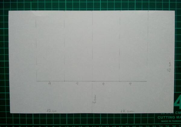 Как сделать объёмную новогоднюю открытку - шаг 1