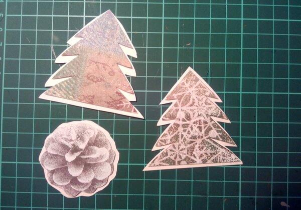 Как сделать объёмную новогоднюю открытку - шаг 8