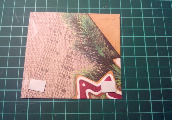 Как сделать объёмную новогоднюю открытку - шаг 10