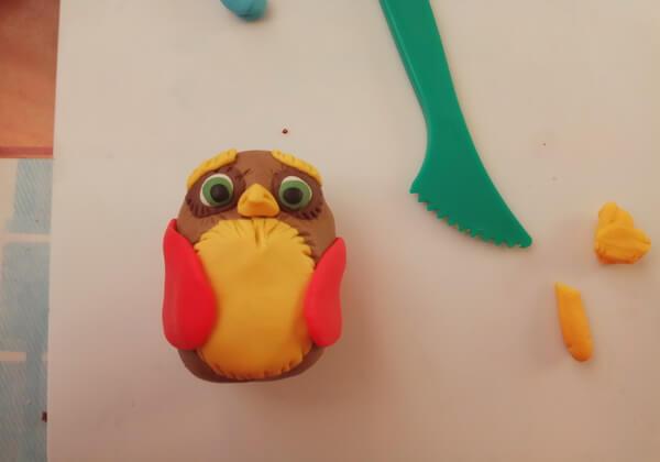 Новогодняя сова своими руками поэтапно - шаг 5