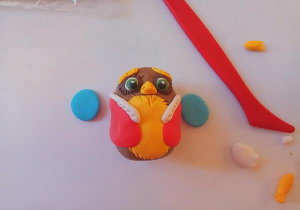 Новогодняя сова своими руками поэтапно - шаг 6