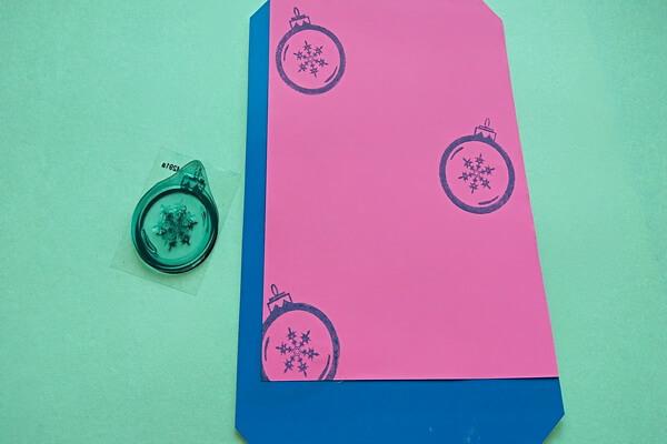 Новогодняя открытка со свинкой своими руками - пошаговый мастер-класс - шаг 7